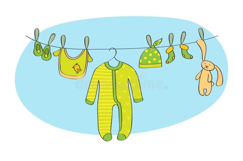 Ilustração do vetor do cartão do anúncio do bebê ilustração royalty free