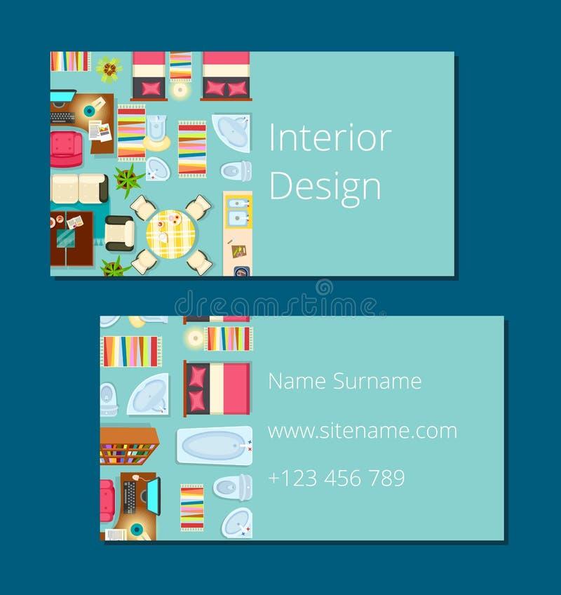 Ilustração do vetor do cartão do design de interiores ilustração stock