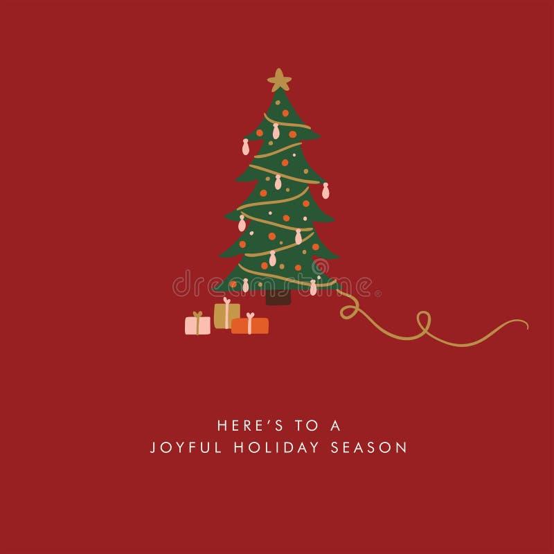 Ilustração do vetor do cartão do Natal fotos de stock