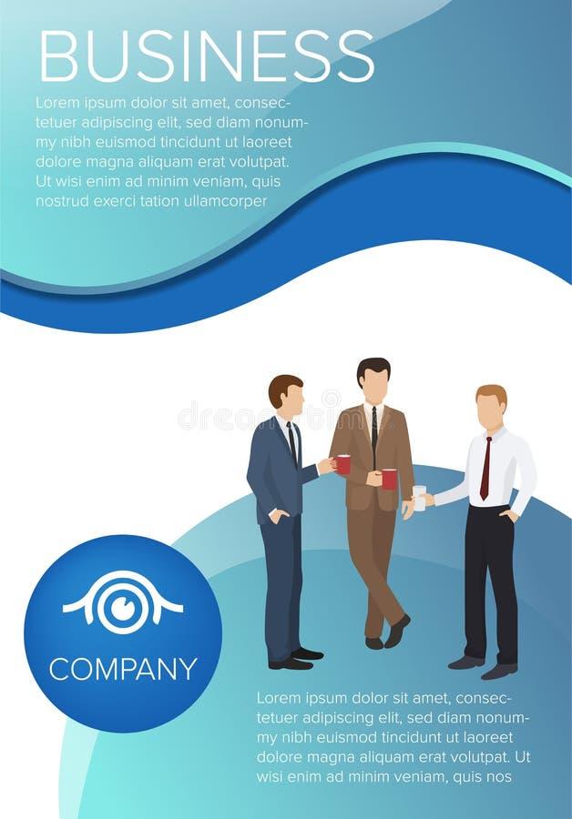 Ilustração do vetor do cartaz da empresa de negócio Finan?a, gest?o estrat?gica, investimento, recursos naturais, trabalhos de eq ilustração stock