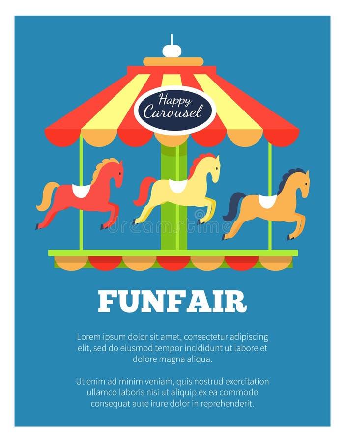 Ilustração do vetor do cartaz da propaganda do Funfair ilustração do vetor