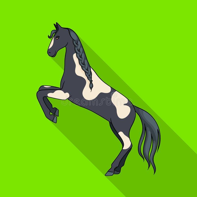 Ilustração do vetor do cavalo e do ícone selvagem Coleção do símbolo de ações do cavalo e do rancho para a Web ilustração royalty free