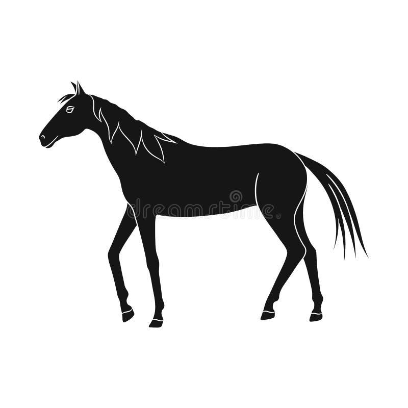 Ilustração do vetor do cavalo e para dapple o símbolo Coleção do cavalo e ícone do vetor da fauna para o estoque ilustração stock