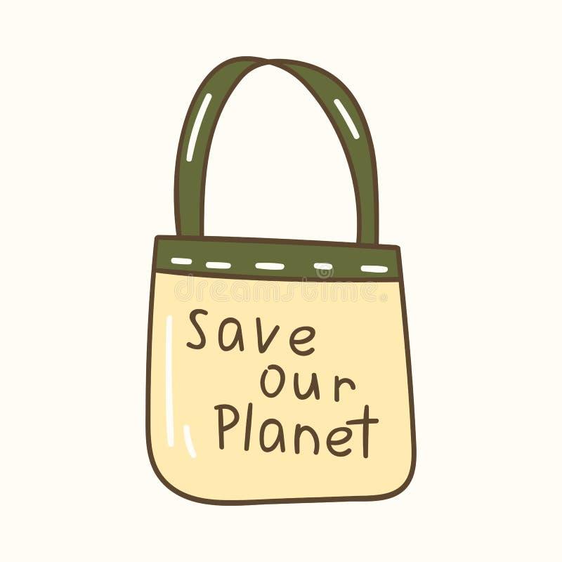 Ilustração do vetor com ícone do saco do algodão dos desenhos animados ilustração stock