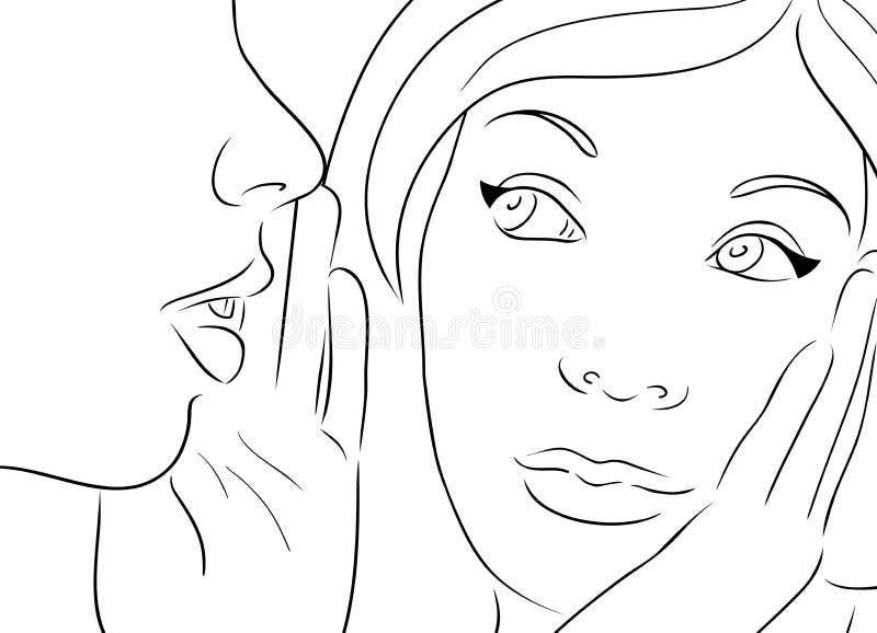Ilustração do vetor com as duas meninas de tagarelice ilustração do vetor