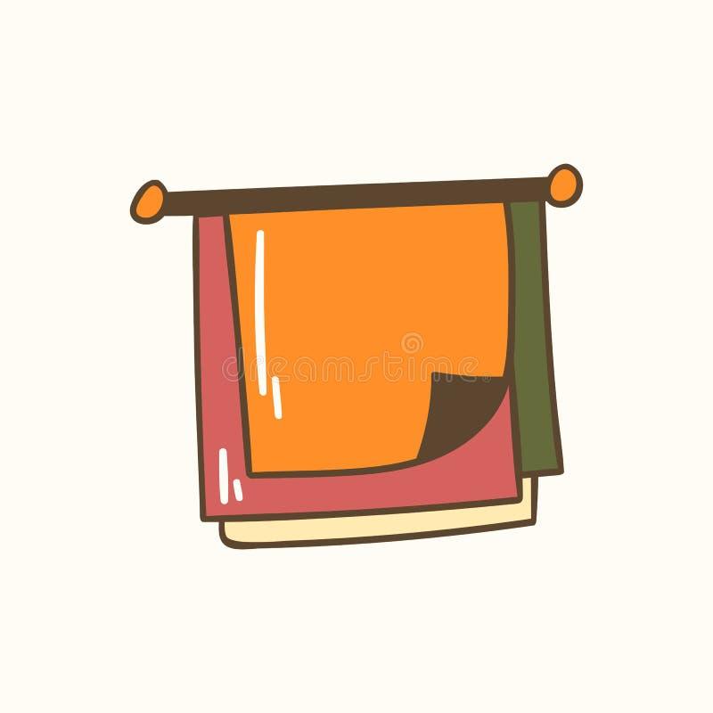 Ilustração do vetor com as toalhas reusáveis tiradas mão do unpaper dos desenhos animados ilustração royalty free