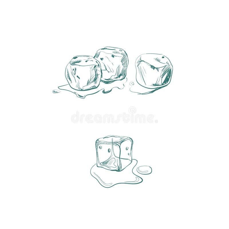 Ilustração do vetor com cubo de gelo ilustração do vetor