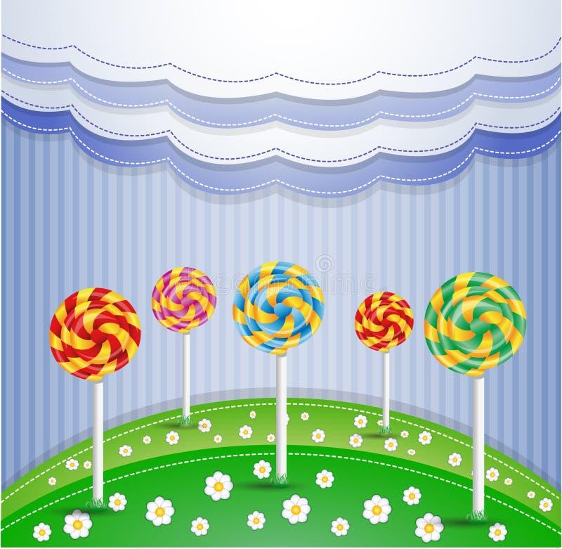 Ilustração do vetor com doces. ilustração royalty free