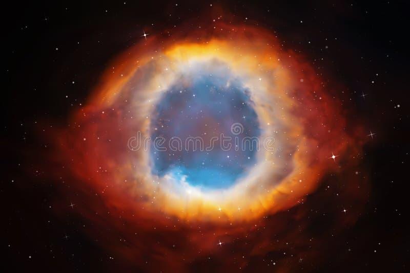 Ilustração do vetor com nebulosa da hélice ilustração do vetor