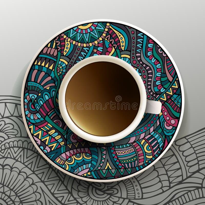 Ilustração do vetor com uma xícara de café ilustração do vetor