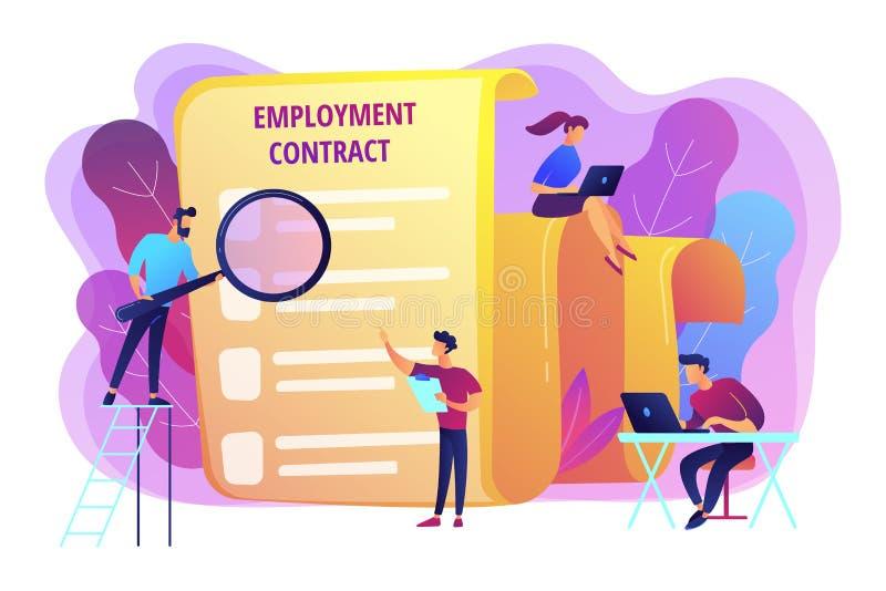 Ilustração do vetor do conceito do acordo de emprego ilustração do vetor