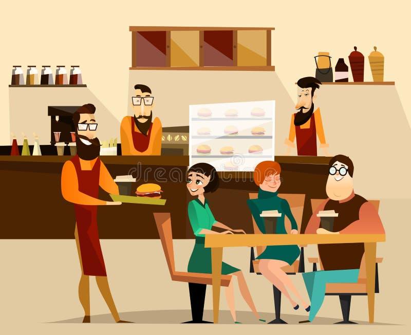 Ilustração do vetor do conceito da barra do hamburguer ilustração royalty free