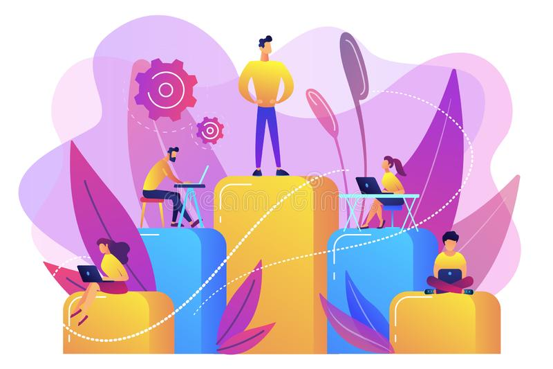 Ilustração do vetor do conceito da hierarquia do negócio ilustração do vetor