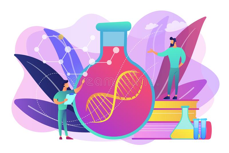 Ilustração do vetor do conceito da terapia genética ilustração royalty free