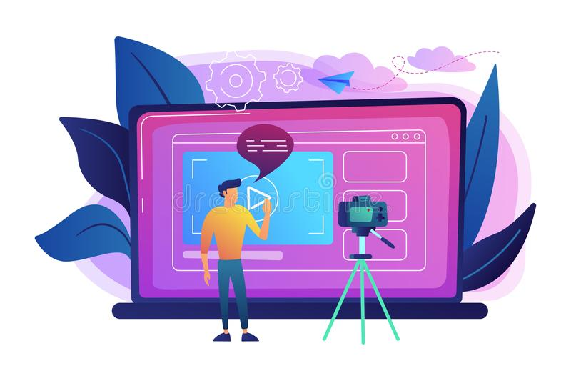 Ilustração do vetor do conceito de Vlog ilustração do vetor