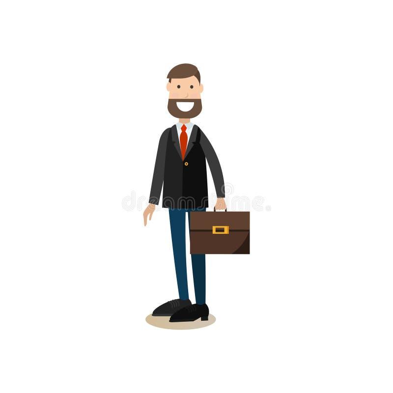 Ilustração do vetor do conceito do diretor de escola no estilo liso ilustração royalty free