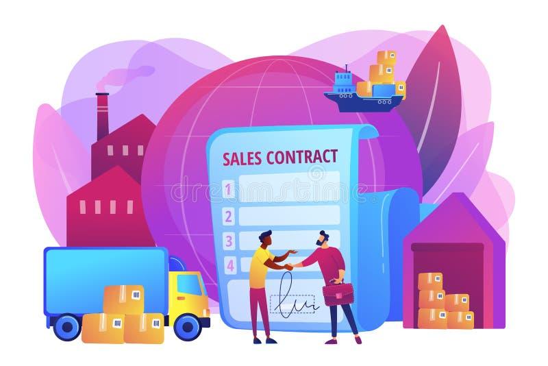 Ilustração do vetor do conceito dos termos de contrato das vendas ilustração royalty free