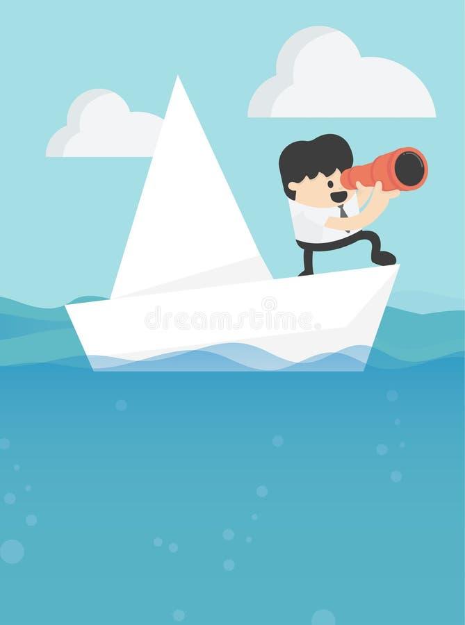 Ilustração do vetor do conceito, liderança do negócio e concep do objetivo ilustração stock