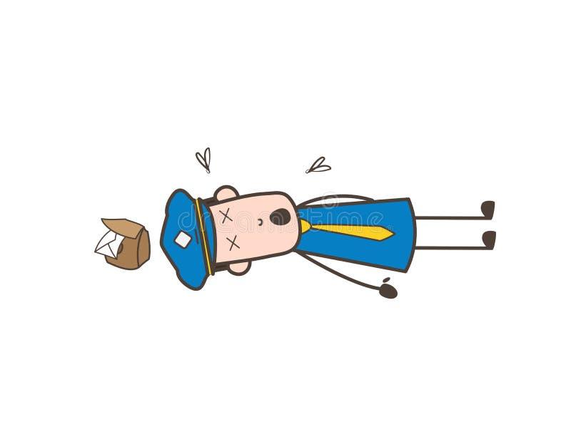 Ilustração do vetor do corpo do carteiro dos desenhos animados ilustração stock