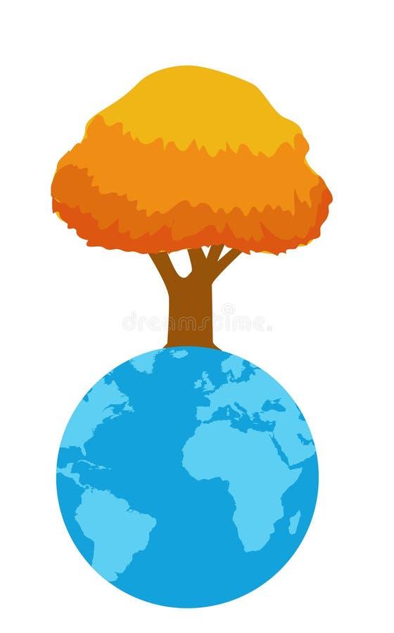 Ilustração do vetor da árvore do outono ilustração do vetor