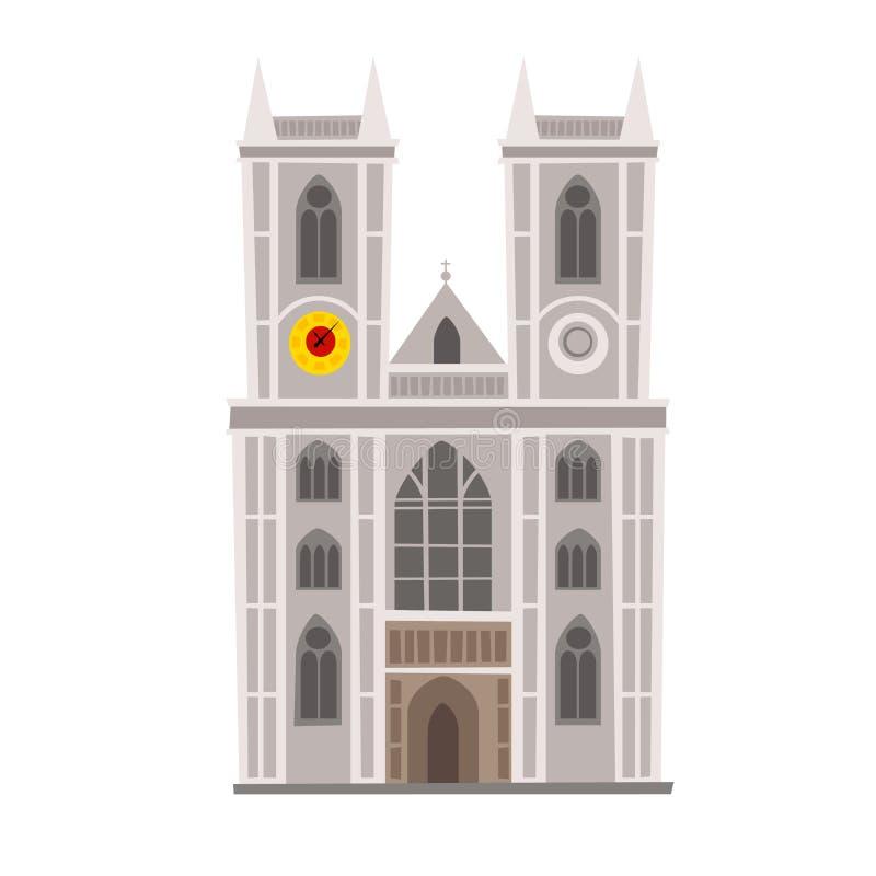 Ilustração do vetor da abadia de Westminster Marco de Inglaterra, símbolo da cidade de Londres ilustração do vetor