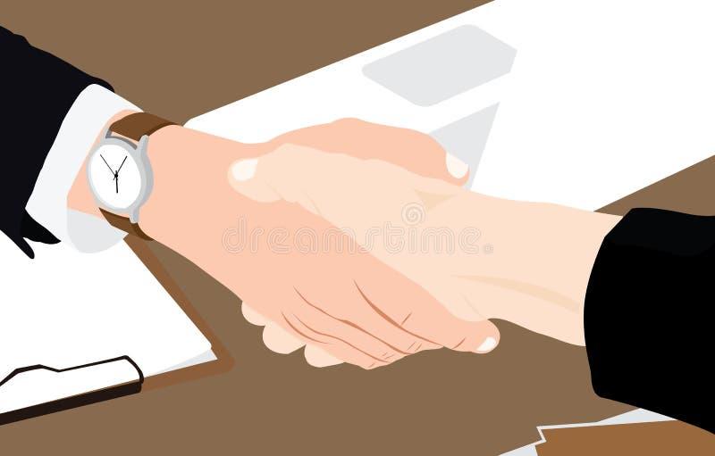 Ilustração do vetor da agitação da mão do negócio ilustração stock