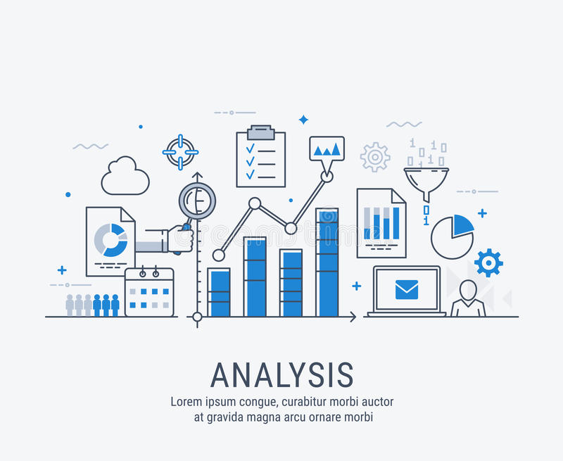 Ilustração do vetor da análise ilustração stock
