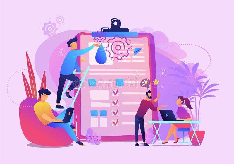 Ilustração do vetor da análise de dados do escritório para negócios ilustração stock