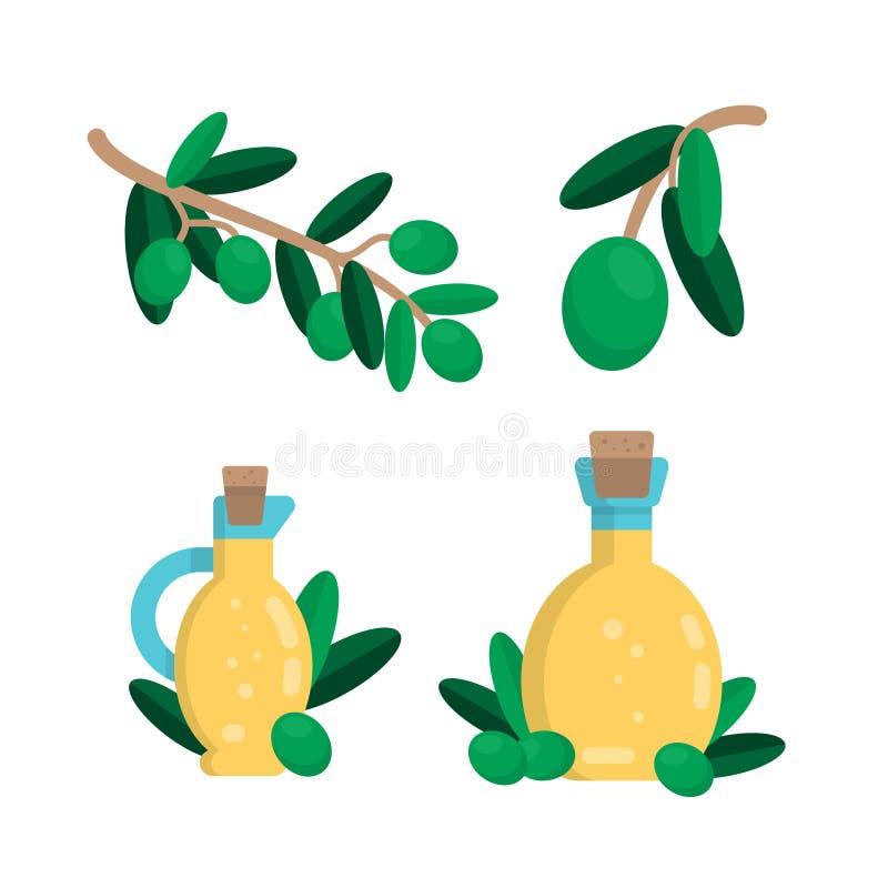 Ilustração do vetor da azeitona verde ilustração do vetor