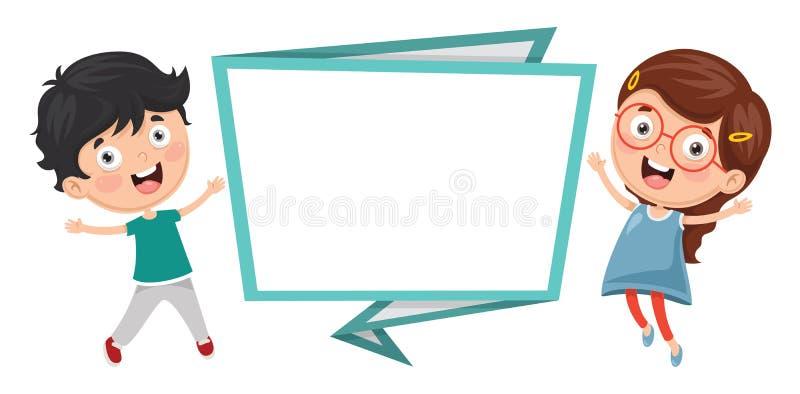 Ilustração do vetor da bandeira das crianças ilustração stock