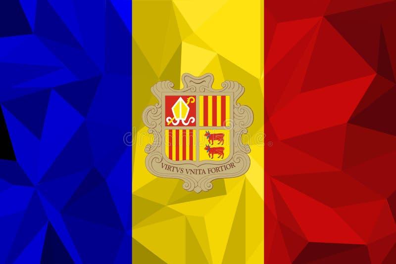 Ilustração do vetor da bandeira de Andorra Bandeira de Andorra Bandeira nacional de Andorra ilustração royalty free