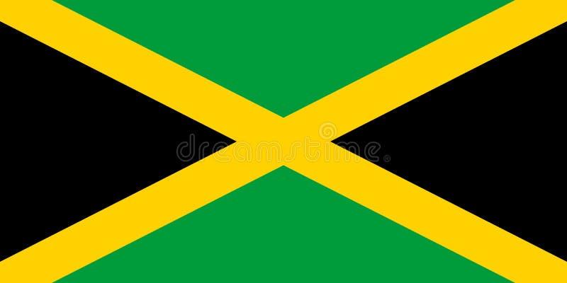 Ilustração do vetor da bandeira de Jamaica ilustração stock