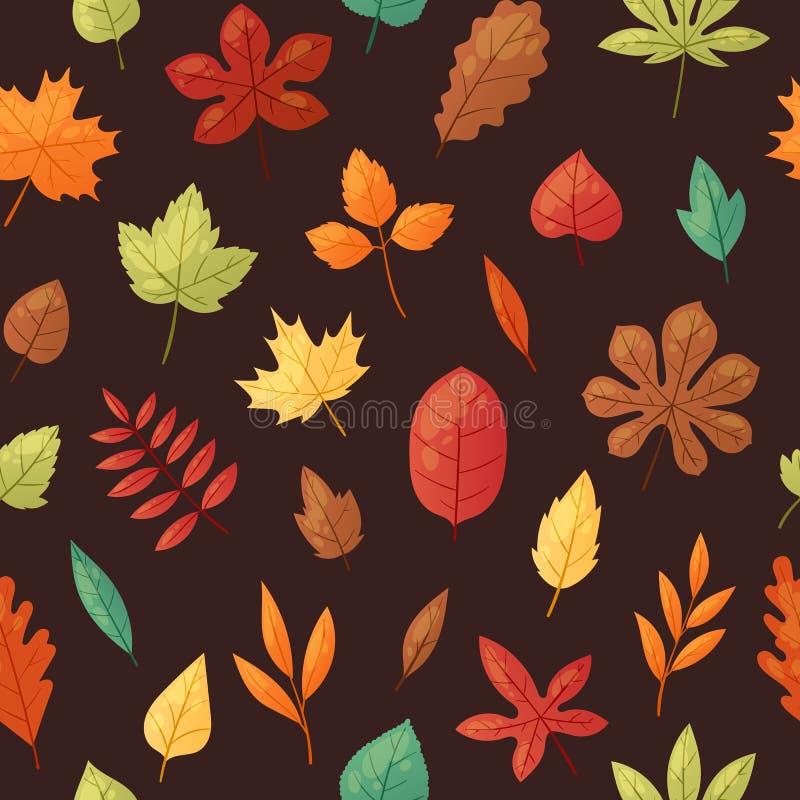 Ilustração do vetor da bandeira do fundo das folhas de outono Folhas de queda verdes, vermelhas, alaranjadas, marrons e amarelas  ilustração stock