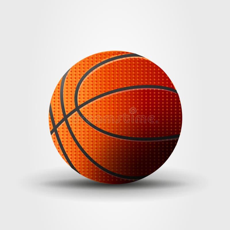 Ilustração do vetor da bola do basquetebol, gráfico realístico dos desenhos animados ilustração do vetor