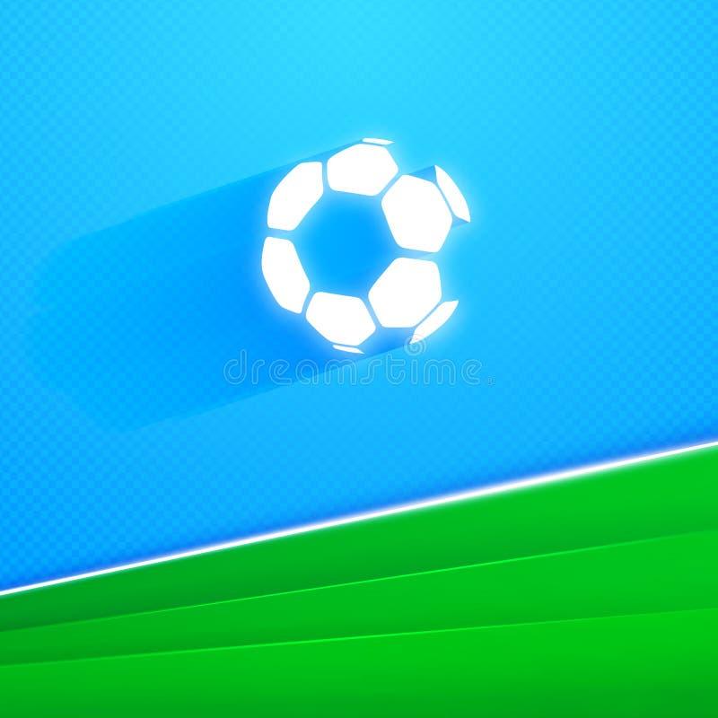 Ilustração do vetor da bola de futebol do voo ilustração stock
