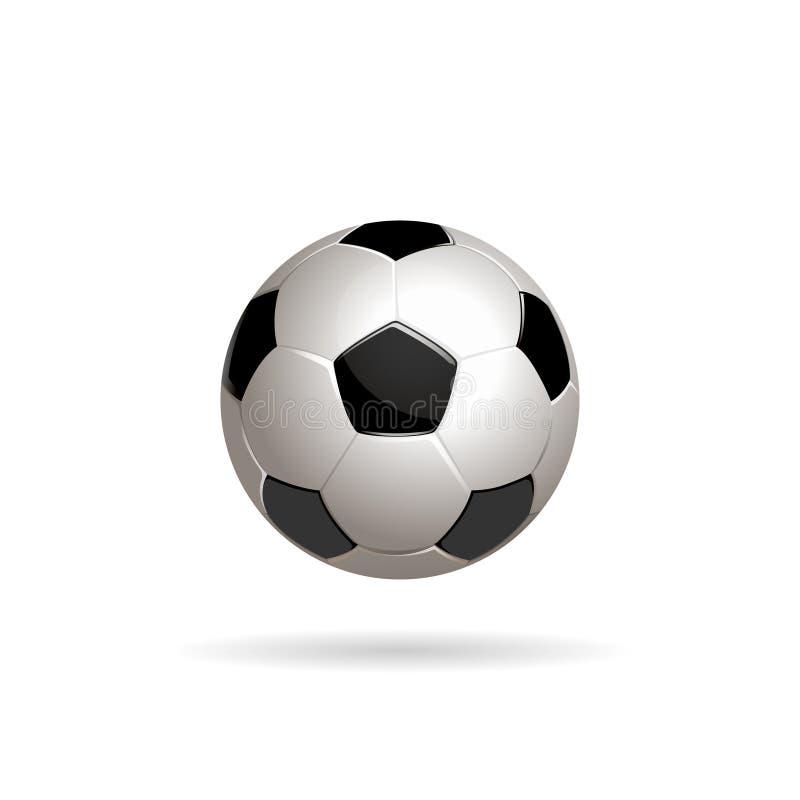 Ilustração do vetor da bola do futebol ilustração do vetor