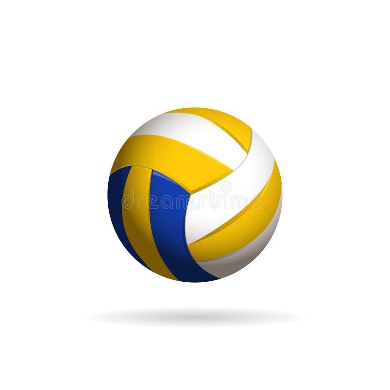 Ilustração do vetor da bola do voleibol ilustração royalty free