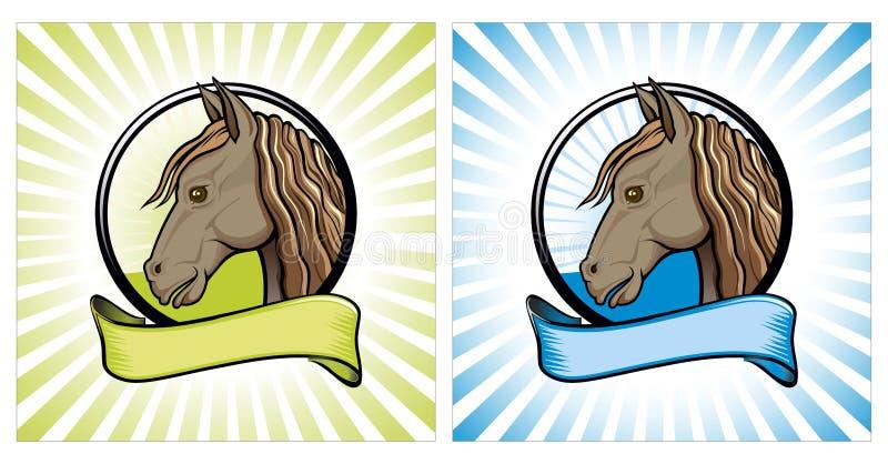 Ilustração do vetor da cara do cavalo fotografia de stock