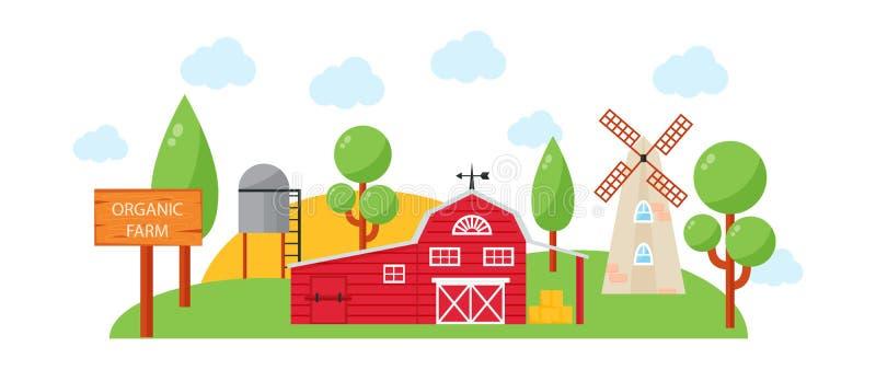 Ilustração do vetor da casa da exploração agrícola ilustração stock