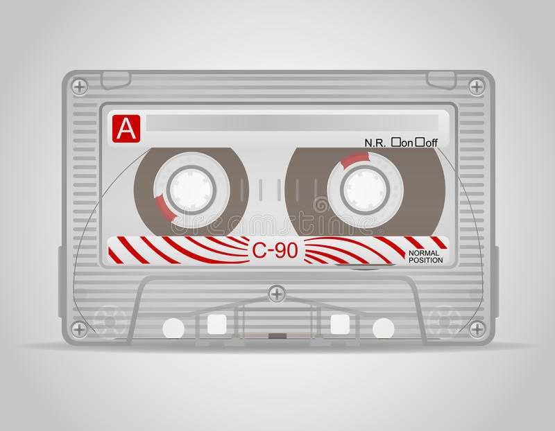 Ilustração do vetor da cassete áudio ilustração stock