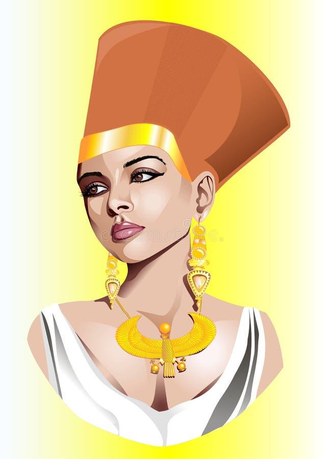 A ilustração do vetor da czarina egípcia. ilustração stock