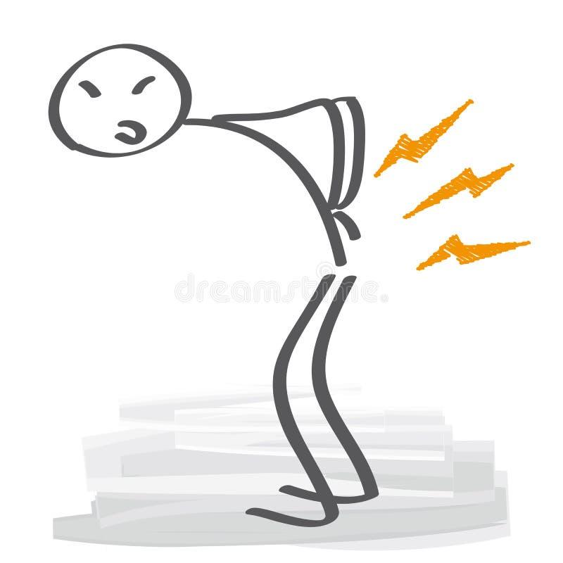 Ilustração do vetor da dor lombar ilustração stock
