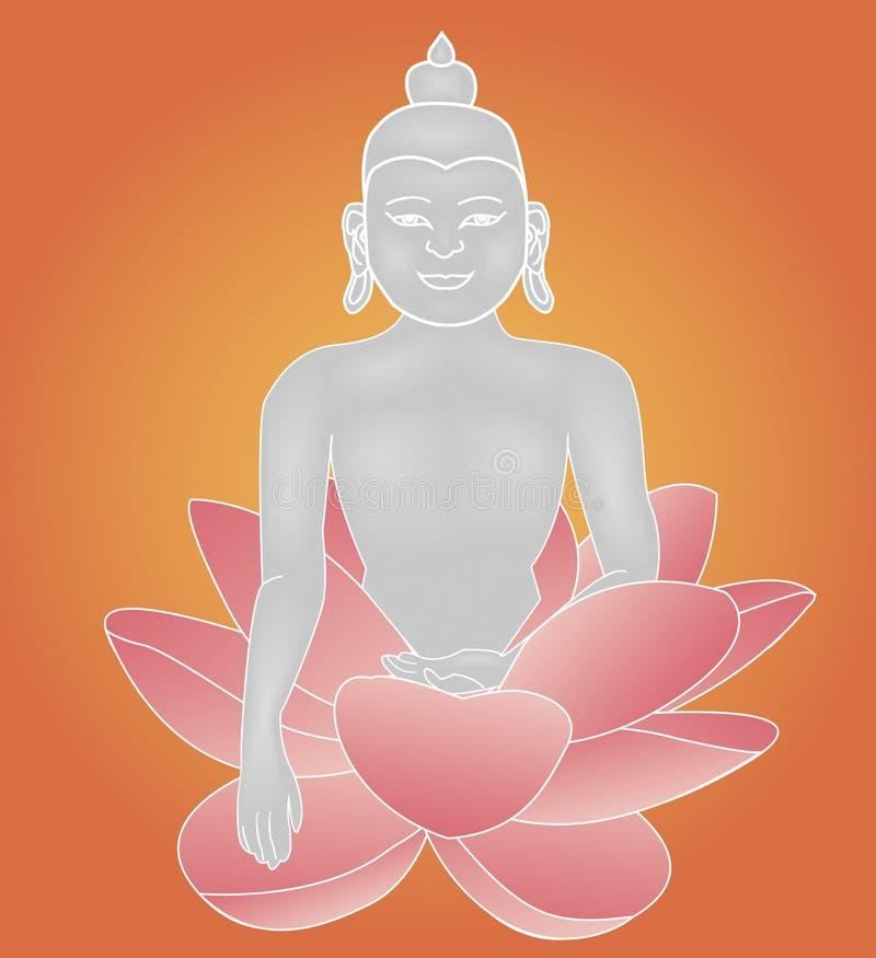 Lótus de Budha ilustração do vetor
