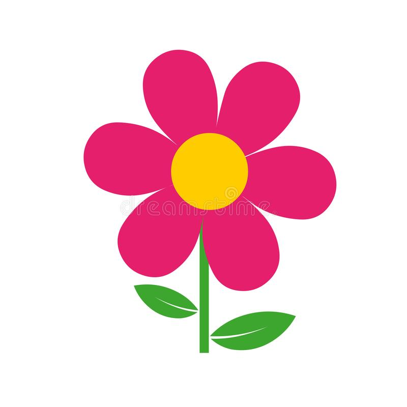 Ilustração do vetor da flor Flor vermelha bonita ilustração royalty free