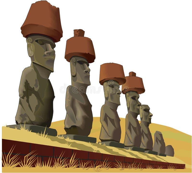 Ilustração do vetor da Ilha de Páscoa ilustração do vetor