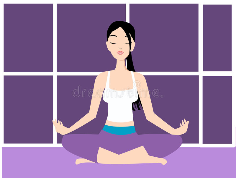 Ilustração do vetor da ioga ilustração royalty free