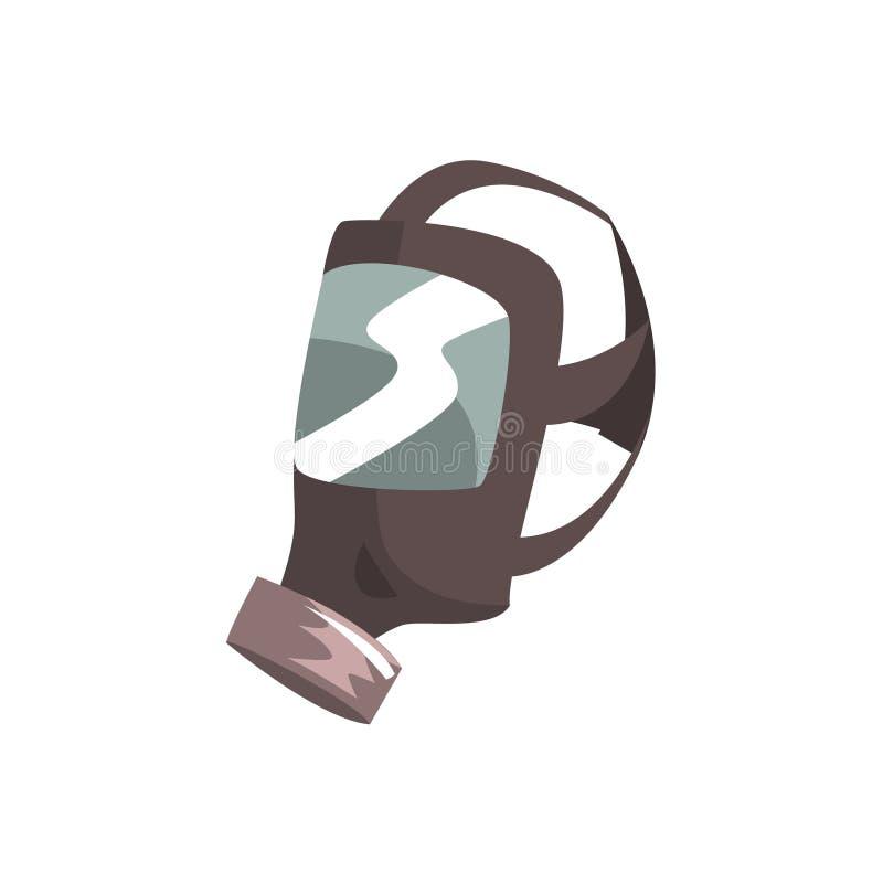 Ilustração do vetor da máscara de oxigênio dos sapadores-bombeiros ilustração stock