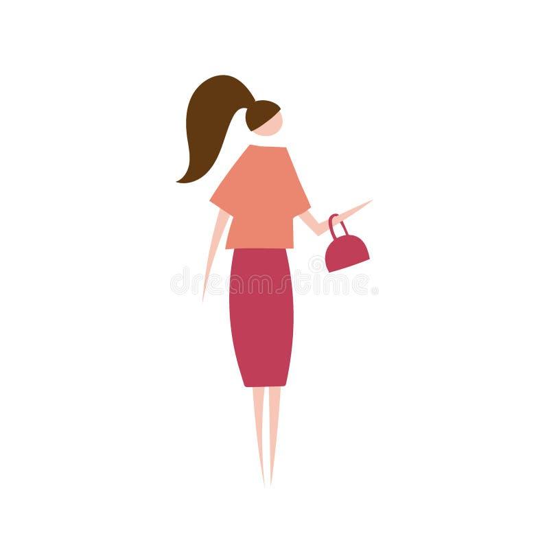 Ilustração do vetor da mulher moderna ilustração stock