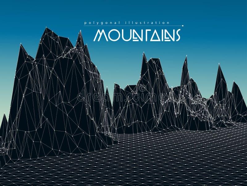 Ilustração do vetor da paisagem da montanha ilustração do vetor