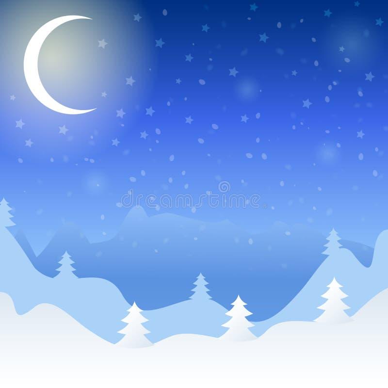Ilustração do vetor da paisagem do inverno ilustração do vetor
